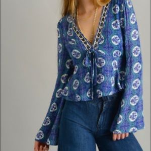 🚀Host Pick🚀 FREE PEOPLE 'Time of Your Life' Top